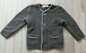 SCHEIBER M.Pure Wool Knitted Jacket 110 5 J. Top Traditional Tyrol Austria