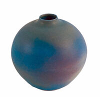 "Delan Cookson Ovoid Bottle Vase Vintage British Studio Art Pottery 3 5/8""H"
