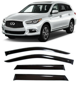 For Infiniti QX60/JX35 2012- Window Side Visors Sun Rain Guard Vent Deflectors