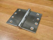 WIDE THROW HINGES SOLID STAINLESS STEEL 3.2mm THICK 100X125mm