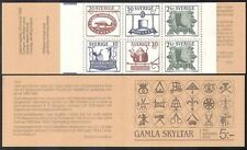 Sweden 1985 Shop Signs/Music/Shoes/Hat/Kettle/Beaver/Trade/Commerce bklt n40867