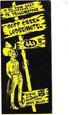 Goff Creek Lodge Motel near Yellowstone Park Wapiti Valley Cody Wyoming Brochure