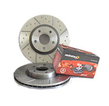 Jag XF 3.0D S 4.2 Supercharged 5.0 08-14 Dimpled&Grooved Front Brake Discs Pads