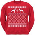 Italian Greyhound Red Adult Ugly Christmas Sweater Crew Neck Sweatshirt