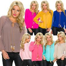 Hüftlang Damenblusen,-Tops & -Shirts im Tuniken-Stil mit Langarm-Ärmelart für Party
