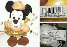 NOV BIRTHSTONE MINNIE DISNEY STORE 20Cm. Peluche Plush Toy Topolino Mickey Mouse