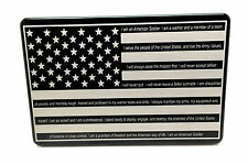 American Flag With Soldiers Creed, Billet Aluminum Trailer Hitch Cover, 4x6