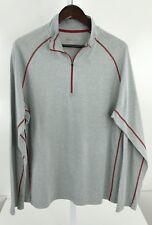 Cloudveil Men's Xl Grey & Red 1/2 Zip Long Sleeve Pullover S-14