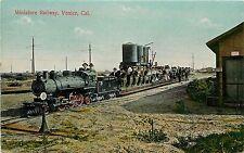 Vintage Postcard Miniature Railway Venice Beach CA