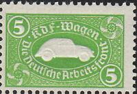 SALE Stamp Germany Revenue WWII 3rd Reich VW War Era KDF Volkswagen Green MNH
