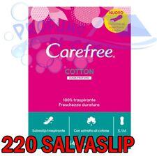 Carefree Cotton Salvaslip Donna senza profumo 220 SalvaSlip Anatomici
