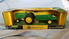 JOHN DEERE, ERTL, Farm Toy Tractor with Manure Spreader 60th Anniversary Rare