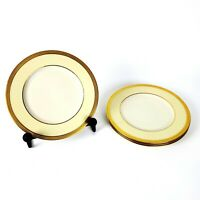 SET OF 4 LENOX VERNON DINNER PLATES GOLD RIM - 3 SETS AVAILABLE - FREE SHIPPING