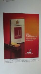 Alfred Dunhill  Cigarette Magazine Advert  c1980's  Luxury Length