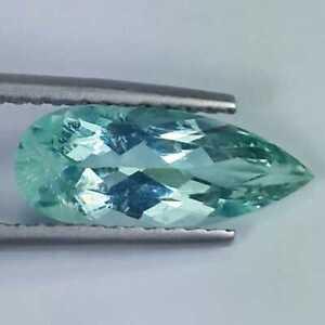 2.30 Ct Natural Earthmined Aquamarine Beryl Blue Long Pear Cut Gemstone