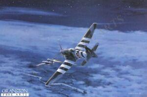 Aviation art post card,Wing Commander Roland Beaumont tempest fighter V1 rocket