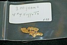 GOLD NUGGET 3.00 GRAMS,ALASKA PLACER 4 # 4, 20.5K TO 22K PURITY, FREE SHIPPING*.