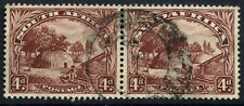 South Africa 1936 SG#46c, 4d Native Kraal Used Horiz Pair #D55821