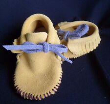 Leather BABY MOCCASINS SOFT SOLE SHOES Size 2