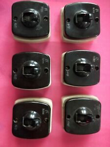 Vintage 1950s Lot of 6 Rare Old Bakelite Electric Switch Indian Made- Un-used