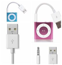 White USB Charger Data Sync Cable Cord For iPod Shuffle 3rd 4th 5th 6th