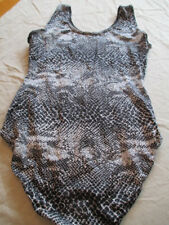 black white gray snakeskin bodysuit one piece unitard GUC *flaw* tear in fabric