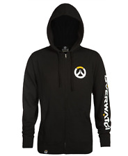 NEW OVERWATCH LOGO ZIP UP HOODIE MEN GAMING XXL OFFICIAL PRODUCT SLIM FIT WARM