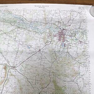 Vintage Wagga Wagga NSW Royal Australian Survey Corp Map