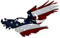 FLYING EAGLE AMERICAN FLAG STICKER / DECAL