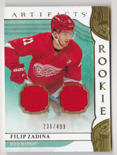19-20 Artifacts Filip Zadina /499 Jersey Rookie GOLD Red Wings 2019