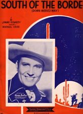 1939 Gene Autry Photo Cover South Of Border Down Mexico Way Movie Sheet Music