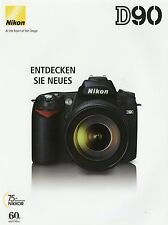 Prospekt Nikon D90 8 2008 Kameraprospekt Katalog Kamera Spiegelreflexkamera