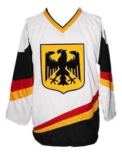 Any Name Number SizeGermany Retro Hockey Jersey White