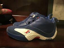 Reebok answer iverson sixers question mid Size 10 VNDS  RARE blue red white