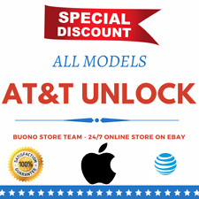 NETWORK UNLOCK CODE FOR AT&T ATT APPLE IPHONE 3G 4 4S 5 5S 5C 6 6+ 6S 7 Plus SE
