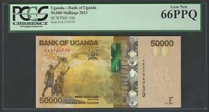 Uganda 50000 Shillings 2013 P54b Uncirculated Graded 66