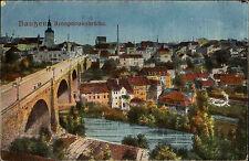 Bautzen Sachsen 1932 Kronprinzenbrücke Brücke Friedensbrücke Panorama gelaufen