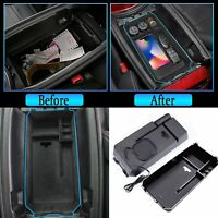For Mercedes Benz Wireless charging armrest box storage Sundries packing box