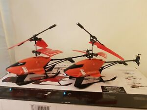 Lot of 2 SkyRover Vigilante Helicopter Drone For Parts AS IS Sky Viper