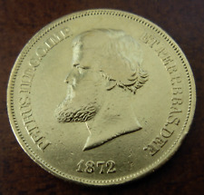 Brazil 1872 Gold 10000 Reis XF Pedro II