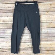 a74ceb6c61 RBX Womens Leggings Cotton Stretch Capri Slim Leg Solid Gray Yoga Run Size  Small