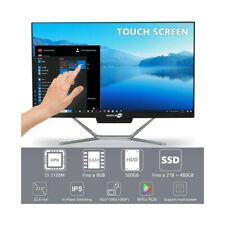 "COMPUTER ALL IN ONE TOUCH SCREEN I3 3120M 24"" FULL HD HDMI WIFI WINDOWS 10 PRO-"