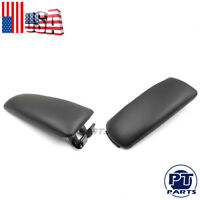 New Black Leather Armrest Center Box Console Lid Cover Fit 2004-2007 Audi A4 B7