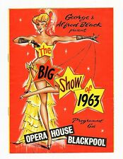 OPERA HOUSE BLACKPOOL 1963 SEASON Max Bygraves, King Brothers, Francis Brunn