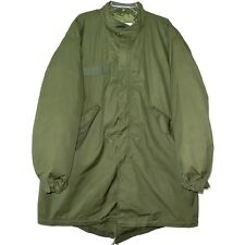 VINTAGE US ARMY FISHTAIL PARKA WITH LINER M-65 M65 1972 VIETNAM MEDIUM NOS MINT