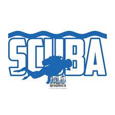 SCUBA Vinyl Sticker / Decal Design Diver Diving Ocean Salvage Treasure Hunter