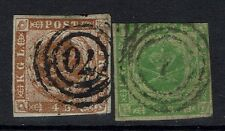 Denmark Sc# 4a and 5, Used, 4a tiny top thin & Hinge Rem, see notes - Lot 041217
