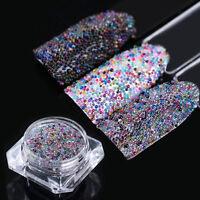 3g BORN PRETTY Mini Nail Beads Micro Glass Bead Nail Decoration Tips Colorful