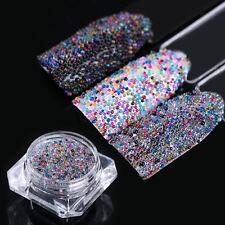 3g BORN PRETTY Mini Caviar Beads Mixed Color Glass Bead 3D Nail Art Decoration