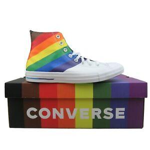 Converse Chuck Taylor HI Top Pride Rainbow Sneakers NEW 167758C Mens Multi Sizes